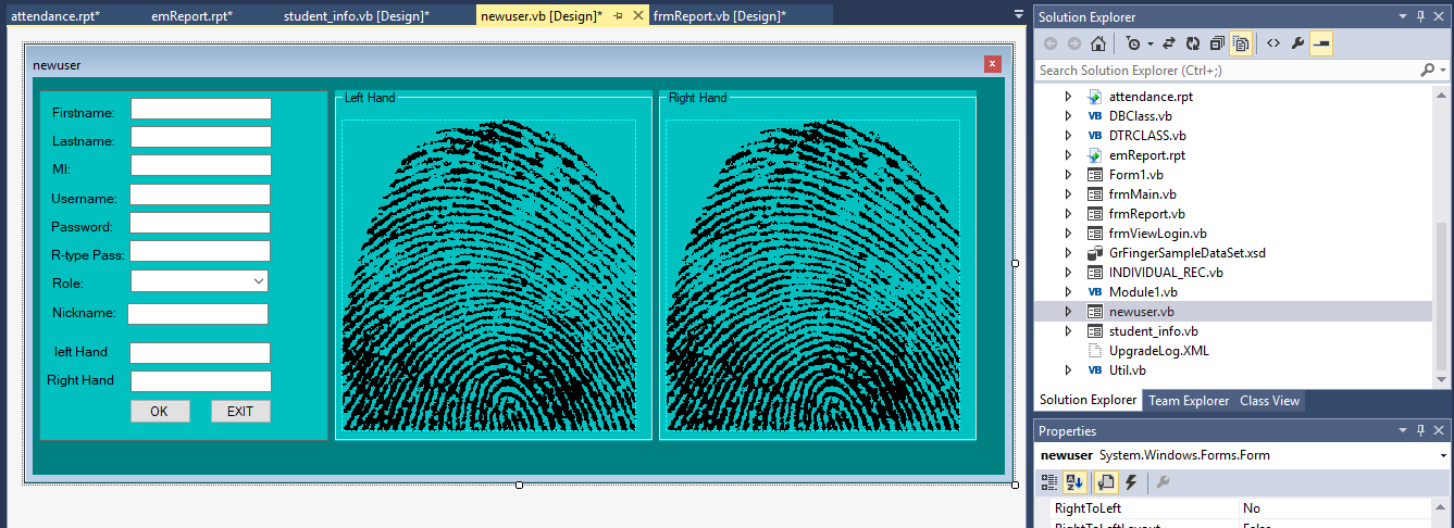 Biometric Attendance Management System in VB Net With