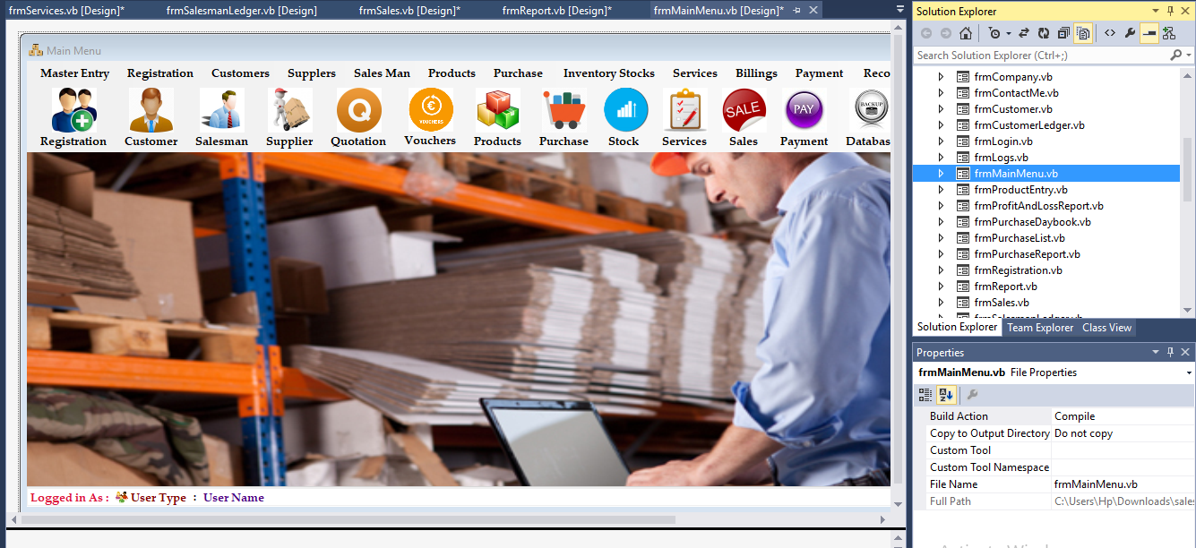 Sales and Inventory Management Software with barcode scanner